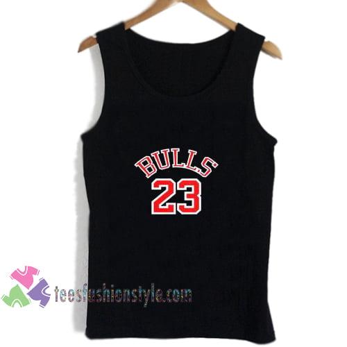 bulls 23 logo tanktop gift shirt