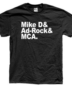 BEASTIE BOYS NAMES boyz mca mike d ad rock tshirt gift