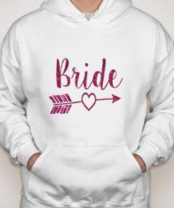 Bride Zip Up logo Hoodie gift