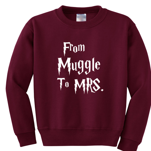 From Muggle To Mrs Shirt Harry Potter sweatshirt gift