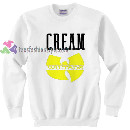 Cream Wu Tang Hip Hop Legend sweatshirt gift custom clothing labels