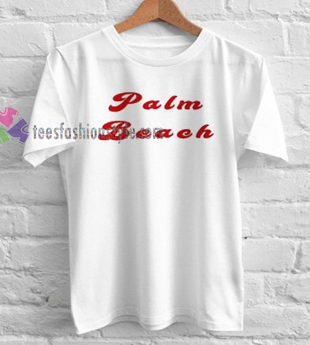 Palm Beach TShirt gift custom clothing labels