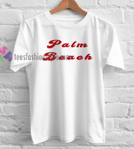 Palm Beach TShirt gift custom clothing labels