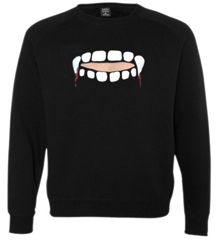 Gabby Show Vampire Teeth Cut Sweatshirt