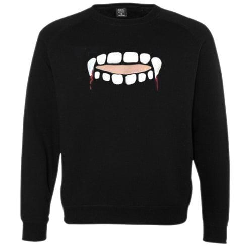 Gabby Show Vampire Teeth Cut Sweatshirt