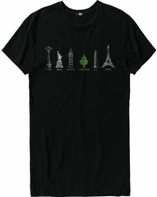 Portland City Tree T Shirt