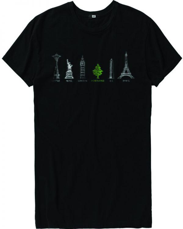 Portland City Tree T Shirt