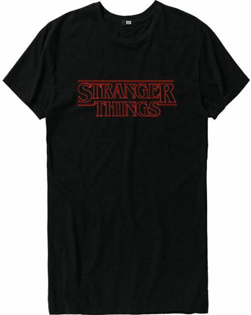 Stranger Things Logo T Shirt