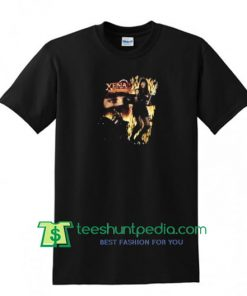1997 XL Xena Warrior Princess T-Shirt, 90s Movie T-Shirt Badass Black and Gold T-Shirt