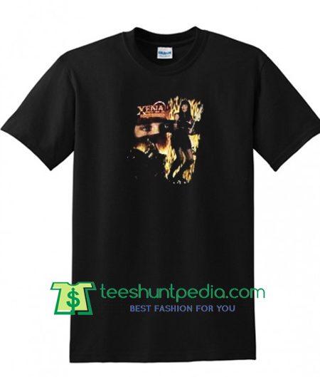1997 XL Xena Warrior Princess T-Shirt, 90s Movie T-Shirt Badass Black and Gold T-Shirt