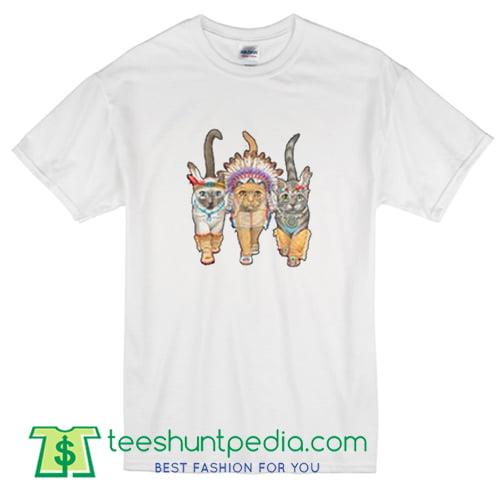 3 Indian Cats T Shirt