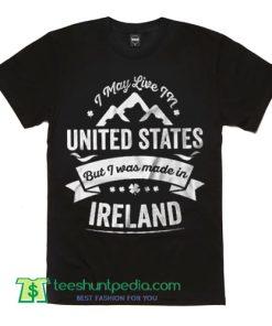 American Ireland T Shirt Patriotic Tee Shirt St Patrick's Day Gift Shirt