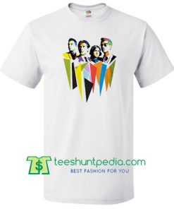 Arctic Monkeys Music Rock Band Multi Coloured Abstract T Shirt