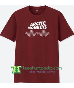 Arctic Monkeys maroon T Shirt