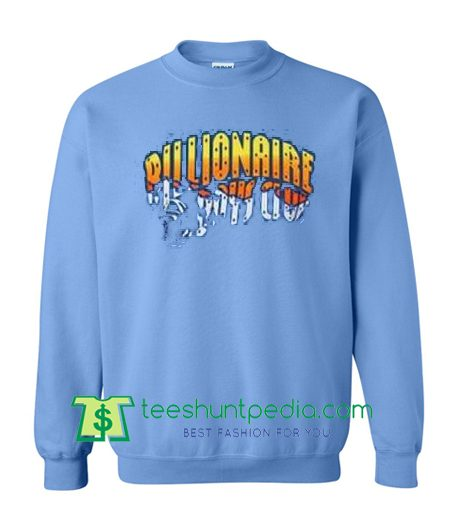 Billionaire Boys Club Blue Sweatshirt Unisex size S,M,L,XL,2XL and 3XL