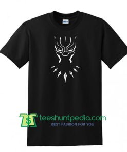 Black Panther Mask Graphic T Shirt Marvel Comic Movie Shirt