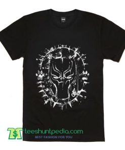 Black Panther Splatter Men's T Shirt 2018 Movie Wakanda Marvel T Shirts