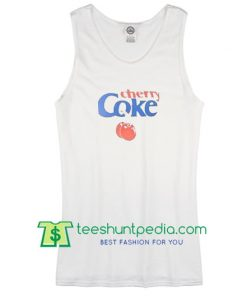 Cherry Coke White Tank Top
