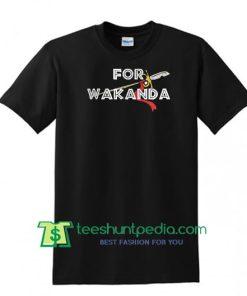 For Wakanda Black Panther T Shirt