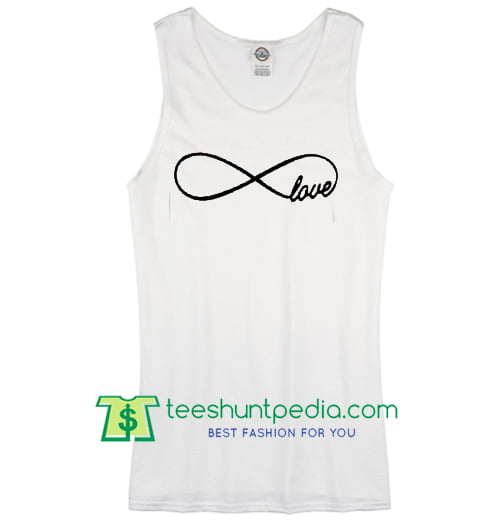 Infinity love Adult White Tank Top