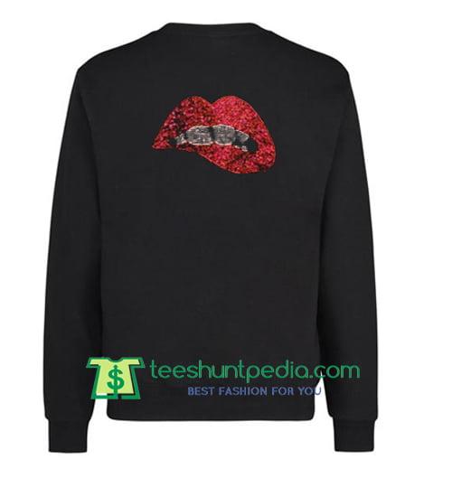 Lips Red Back Sweatshirt