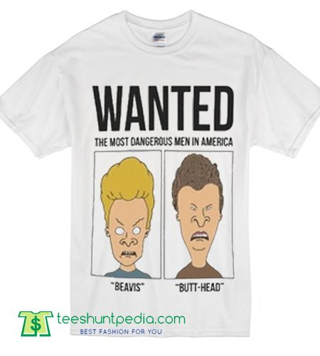 Wanted Beavis And Butthead T Shirt