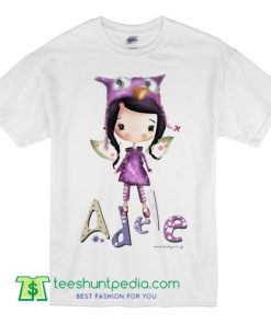 Girl's T Shirt Stamp Baby fairy illustration t shirt with your name adele