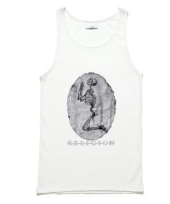 Religion Praying Skeleton Tank Top