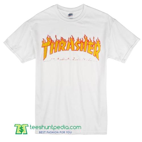 35788c145bcc Thrasher Magazine Fire T Shirt gift shirt adult unisex tees custom