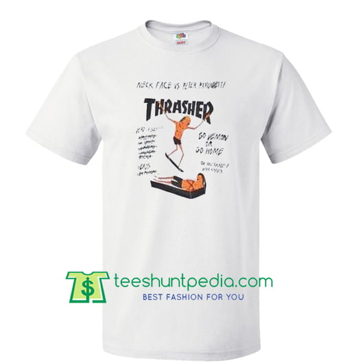 thrasher magazine neck face vs peter ramondetta t shirt 76416515ee
