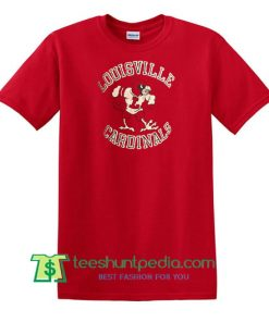 80s Vintage Louisville Cardinals University ncaa college T Shirt Maker Cheap
