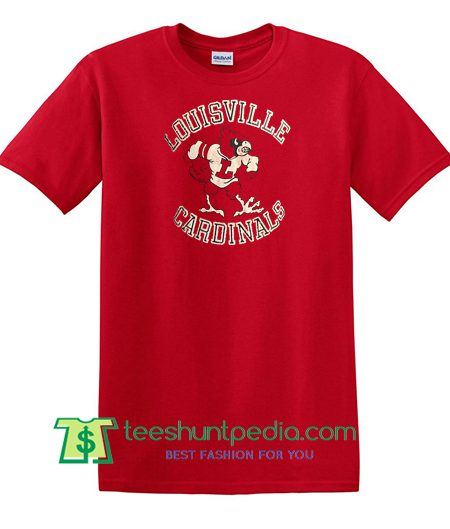 80s Vintage Louisville Cardinals University ncaa college T Shirt Maker Cheap