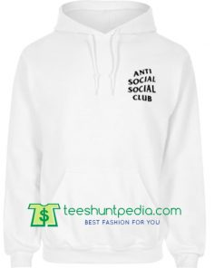 Antisocial Social Club White Mirage Hoodie Maker Cheap
