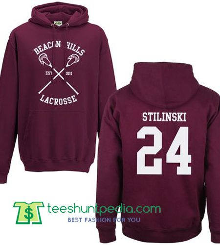 Beacon Hills Lacrosse Hoodie Back Print Stilinski Maker Cheap