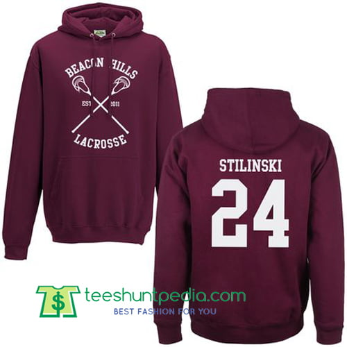 Beacon Hills Lacrosse Hoodie Back Print Stilinski Maker Cheap