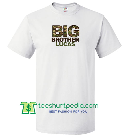 Big brother shirt, CAMO print personalized t shirt Maker Cheap