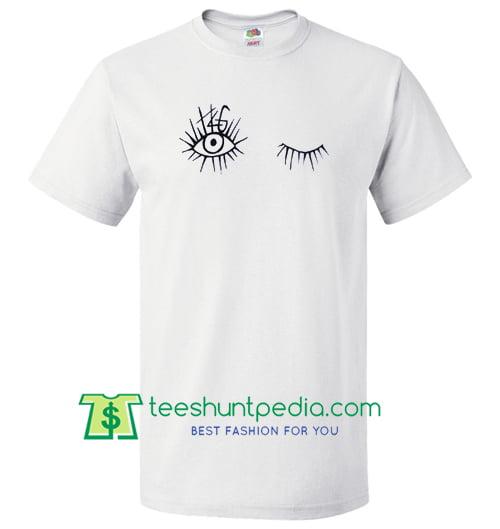 Funny Wink Eyes T Shirt Maker Cheap