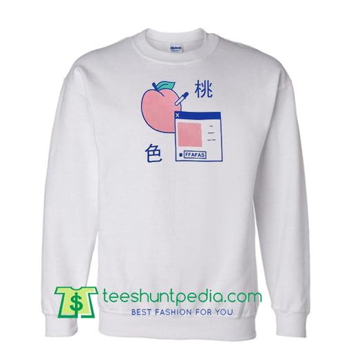 Japanese Milk & Peach Sweatshirt Maker Cheap
