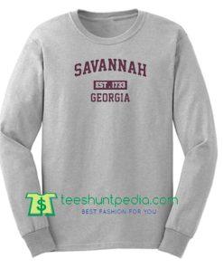 Savannah Est 1733 Georgia Sweatshirt Maker Cheap