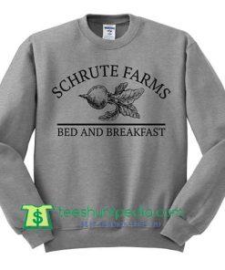 Schrute Farms Sweatshirt - Dunder Mifflin Shirt, The Office Sweater Maker Cheap