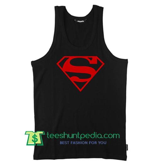 Superman Logo Tank Top Maker Cheap