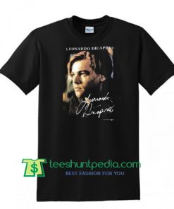 Vintage 90s Leonardo Di caprio Famous Actor Titanic T Shirt Maker Cheap