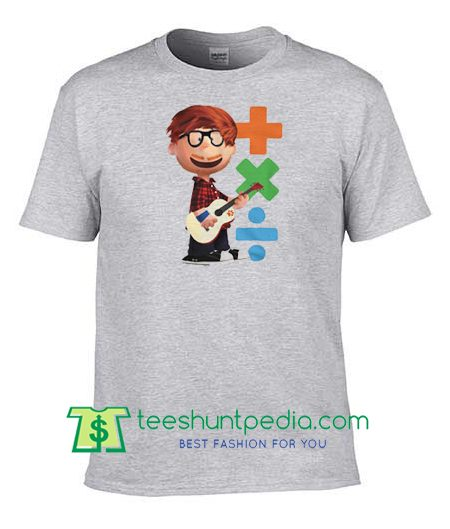 Youth Ed Sheeran Plus X Divide Short Sleeve T Shirt, Fan album art inspired logos T Shirts Maker Cheap