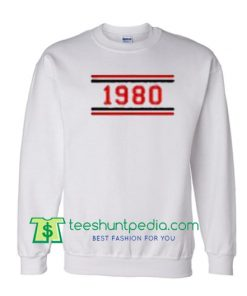 1980 Striped Unisex Sweatshirts Maker Cheap