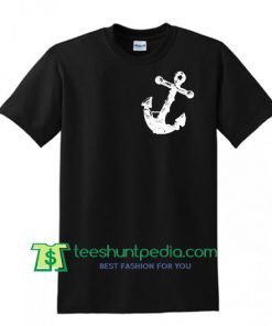 Anchor Art Print Mens T shirt, Made in USA Shirt Maker Cheap