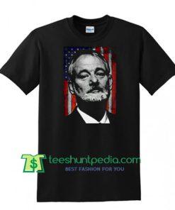 Bill Muray American Flag T Shirt Maker Cheap