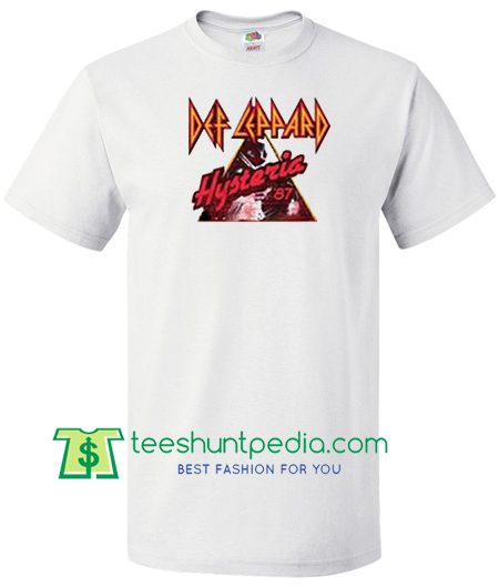 Def Leppard Hysteria 1987 T Shirt Maker Cheap