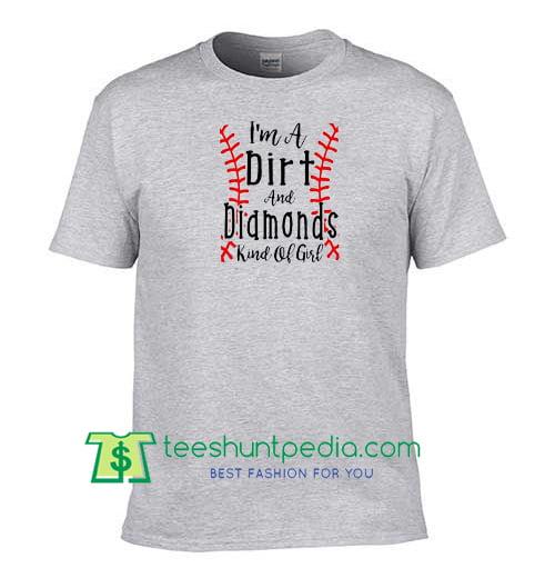 Dirt Diamonds Baseball Shirt Softball Shirt Baseball Mom Shirt