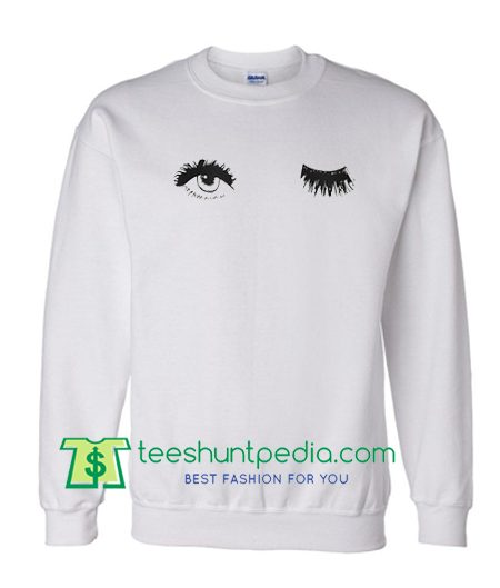 Wink Eyes Sweatshirt Maker Cheap