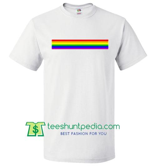 Rainbow Line T Shirt Maker Cheap